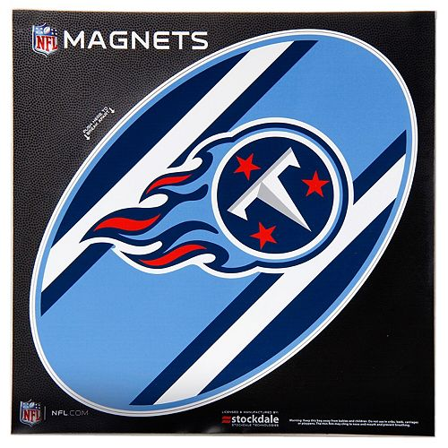 """Tennessee Titans Stripe 12"""" x 12"""" Oval Full Color Magnet"""