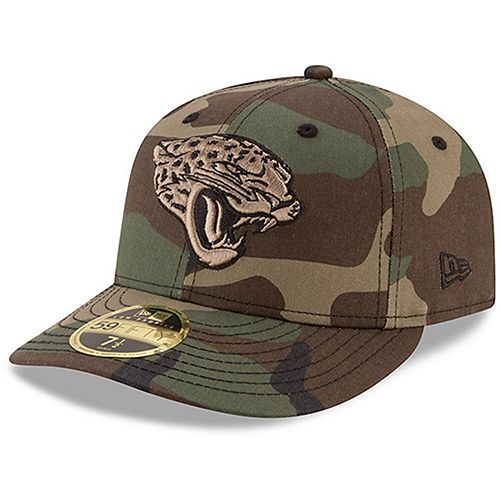Men's New Era Jacksonville Jaguars Woodland Camo Low Profile 59FIFTY Fitted Hat