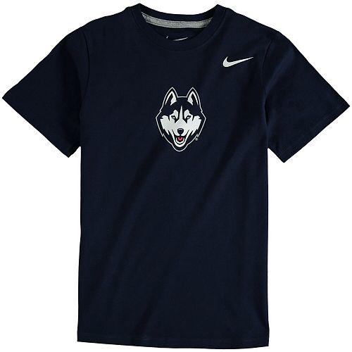 Youth Nike Navy UConn Huskies Cotton Logo T-Shirt