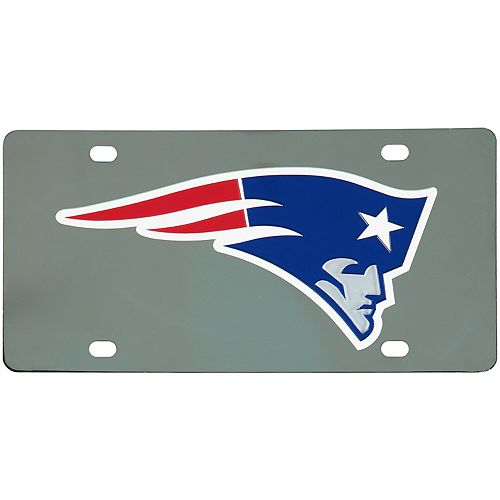 New England Patriots Stainless Steel License Plate