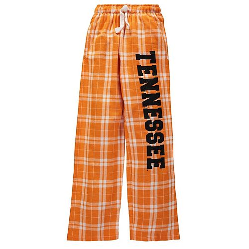 Youth Tennessee Orange Tennessee Volunteers Plaid Flannel Pants