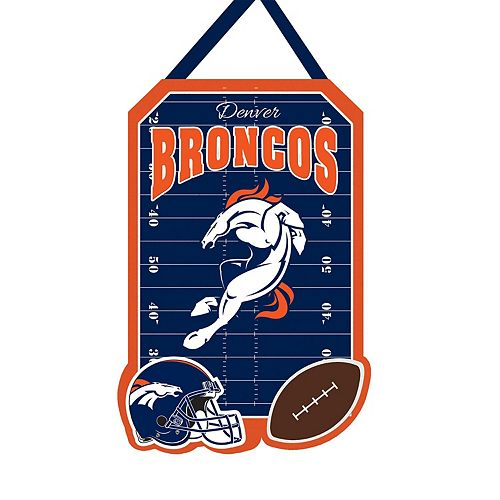 "Denver Broncos 20.5"" x 16.5"" Felt Door Decor Wall Banner"