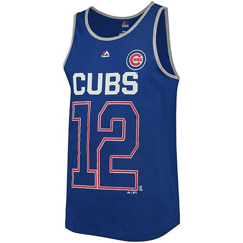 Men's Majestic Kyle Schwarber Royal Chicago Cubs Catch The Dream Tank Top