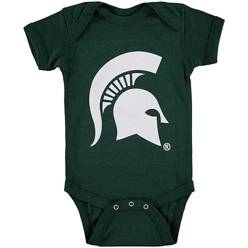 Infant Green Michigan State Spartans Big Logo Bodysuit