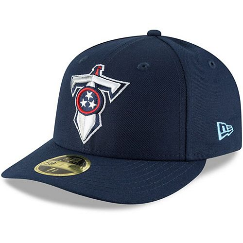 Men's New Era Navy Tennessee Titans Alternate Logo Omaha Low Profile 59FIFTY Fitted Hat