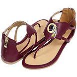 Women's Cuce Burgundy Washington Redskins Gladiator Sandals