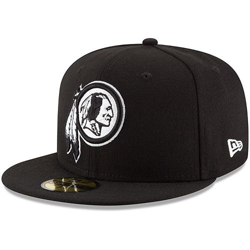 Men's New Era Black Washington Redskins B-Dub 59FIFTY Fitted Hat