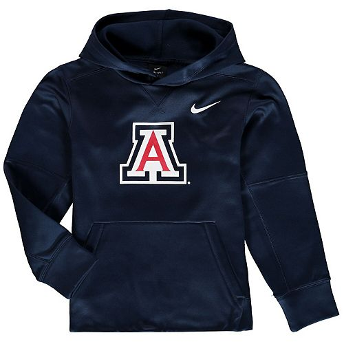 Youth Nike Navy Arizona Wildcats Logo KO Pullover Performance Hoodie