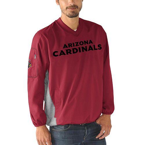 Men's G-III Sports by Carl Banks Cardinal Arizona Cardinals Gridiron V-Neck Pullover Sweatshirt