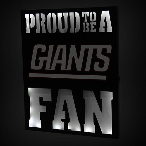 "New York Giants 12"" x 15"" LED Metal Wall Decor"
