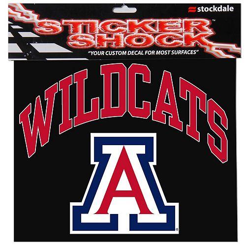 "Arizona Wildcats 12"" x 12"" Arched Logo Decal"
