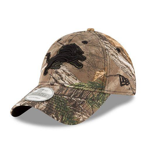 Men's New Era Realtree Camo Detroit Lions 9TWENTY Adjustable Hat