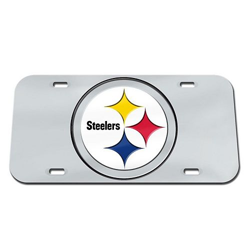 WinCraft Pittsburgh Steelers Logo Crystal Mirror License Plate