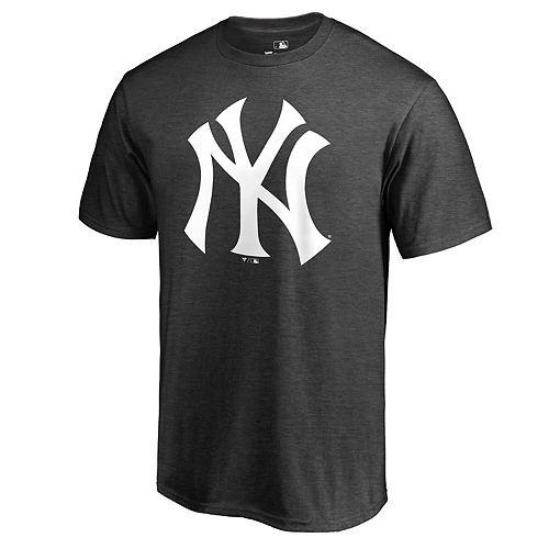 Men's Fanatics Branded Charcoal New York Yankees Primary Logo T-Shirt