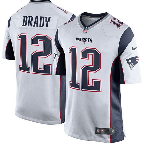 Youth Nike Tom Brady White New England Patriots Game Jersey