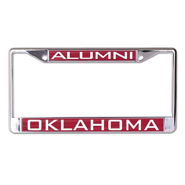 WinCraft Oklahoma Sooners Alumni Inlaid Metal License Plate Frame
