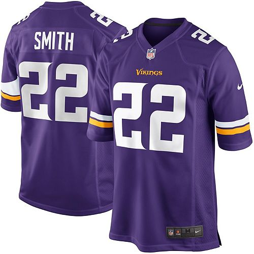Youth Minnesota Vikings Harrison Smith Nike Purple Team Color Game Jersey