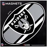 "Oakland Raiders Stripe 12"" x 12"" Oval Full Color Magnet"