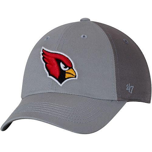 Men's '47 Gray/Dark Gray Arizona Cardinals Northside Clean Up Adjustable Hat