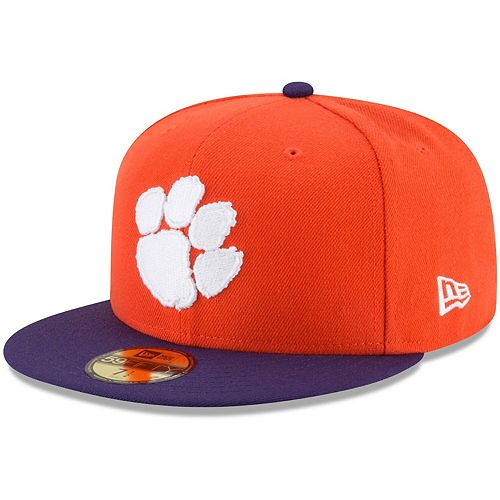 Men's New Era Orange Clemson Tigers Basic 59FIFTY Fitted Hat