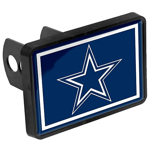 "Dallas Cowboys Logo 1.25"" x 2"" Universal Plastic Hitch Cover"