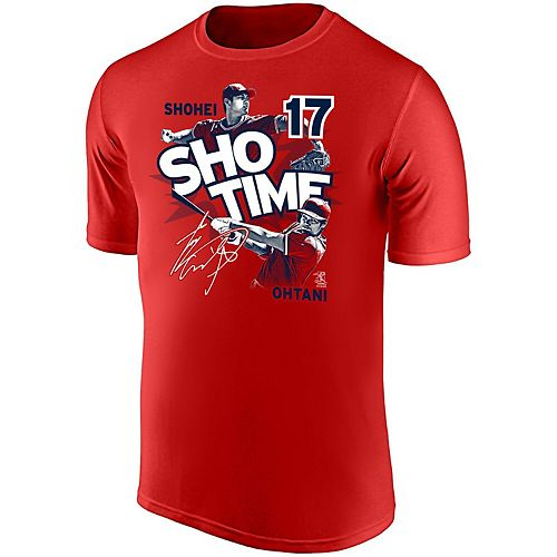 Youth Shohei Ohtani Red Los Angeles Angels ShoTime Player T-Shirt