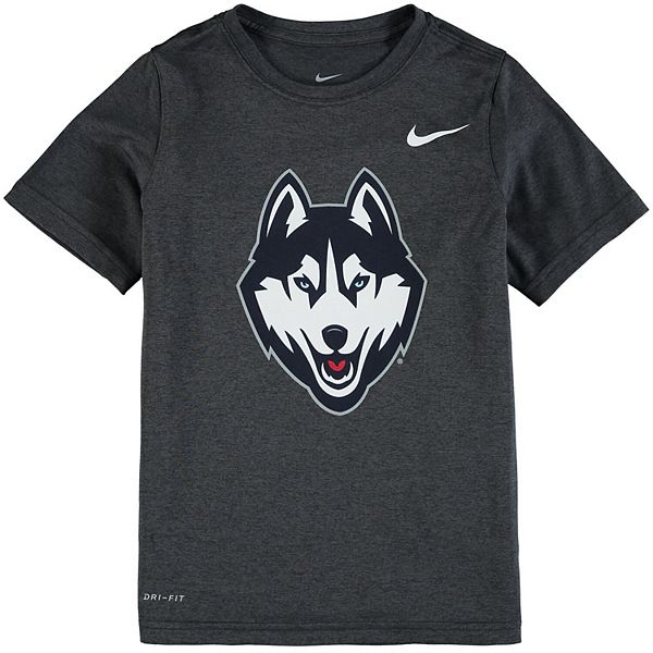 Youth Nike Anthracite UConn Huskies Logo Legend Performance T-Shirt