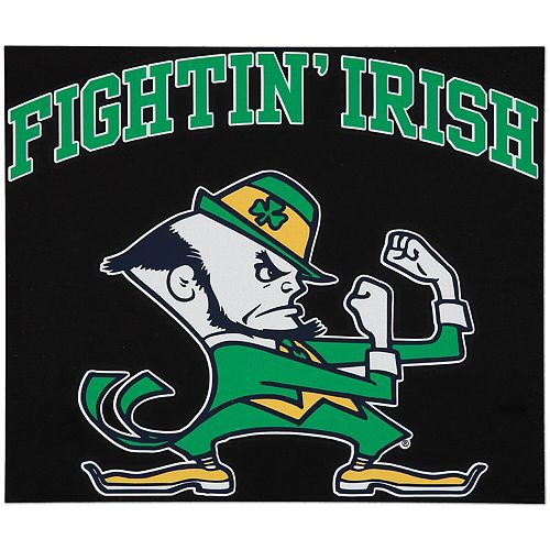 """Notre Dame Fighting Irish 12"""" x 12"""" Arched Logo Decal"""