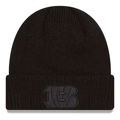 Men's New Era Black Cincinnati Bengals Team Toner Cuffed Knit Hat