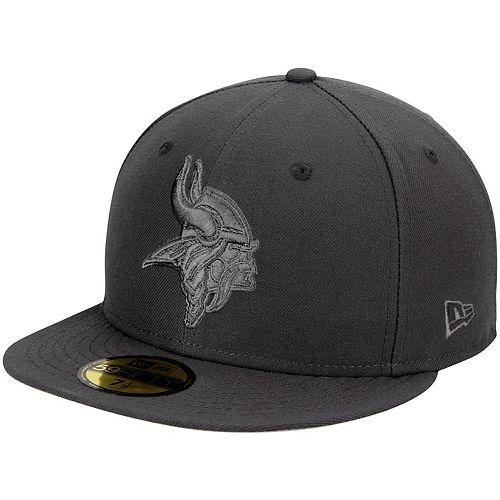 Men's New Era Graphite Minnesota Vikings Tonal League Basic 59FIFTY Fitted Hat