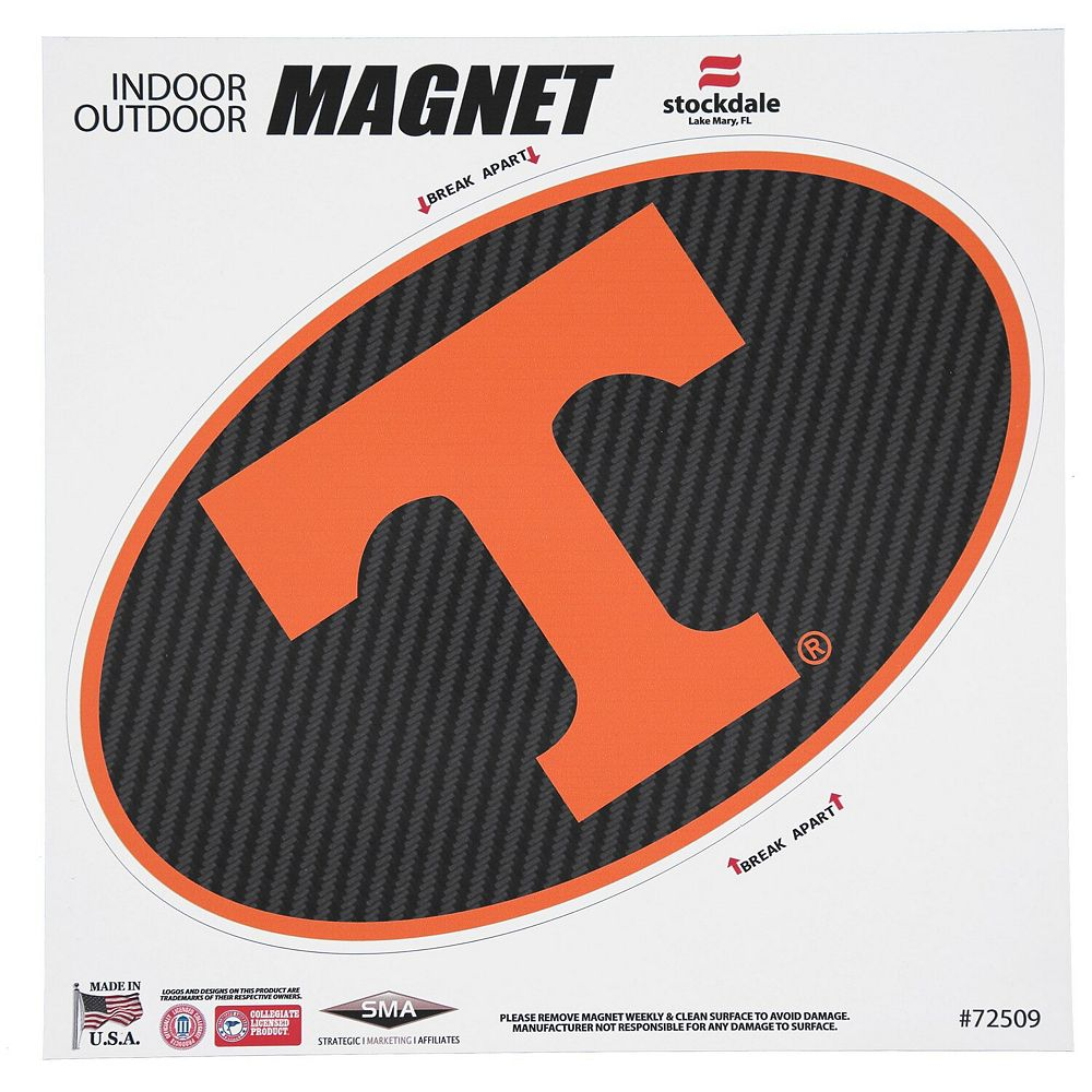 "Tennessee Volunteers Carbon 12"" x 12"" Oval Full Color Magnet"