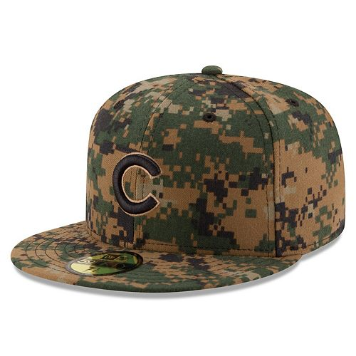 Men's New Era Digital Camo Chicago Cubs 2016 Memorial Day 59FIFTY Fitted Hat