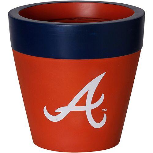 Atlanta Braves Team Planter Flower Pot