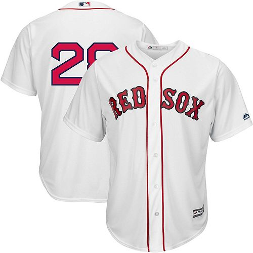 Men's Majestic J.D. Martinez White Boston Red Sox Home Official Cool Base Replica Player Jersey