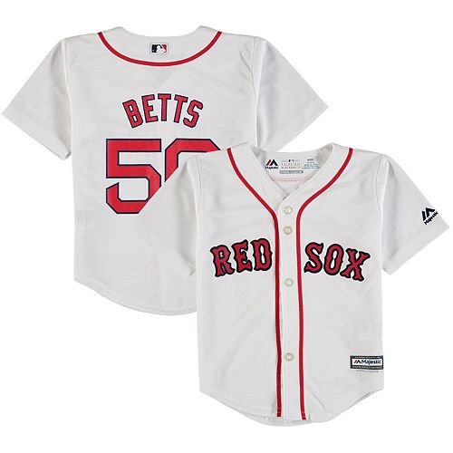 finest selection 2824a 6f934 Toddler Majestic Mookie Betts White Boston Red Sox Home Official Cool Base  Player Jersey