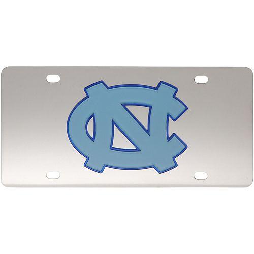 North Carolina Tar Heels Stainless Steel Laser-Cut License Plate
