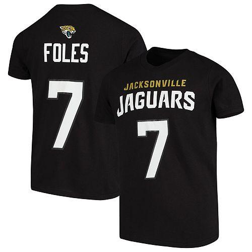 Nick Foles Jacksonville Jaguars Youth Mainliner Name & Number T-Shirt - Black