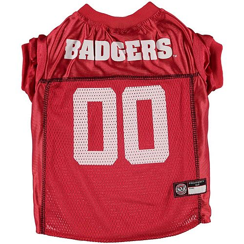 Wisconsin Badgers Mesh Dog Football Jersey