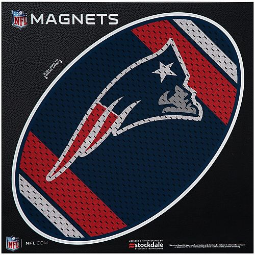 """New England Patriots Jersey 12"""" x 12"""" Oval Full Color Magnet"""