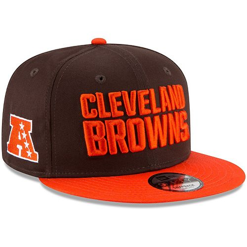 Youth New Era Brown/Orange Cleveland Browns Baycik 9FIFTY Snapback Adjustable Hat