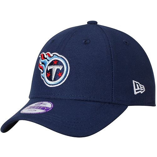 Youth New Era Navy Tennessee Titans League 9FORTY Adjustable Hat