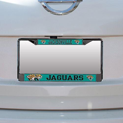 Jacksonville Jaguars Small Over Large Mega License Plate Frame