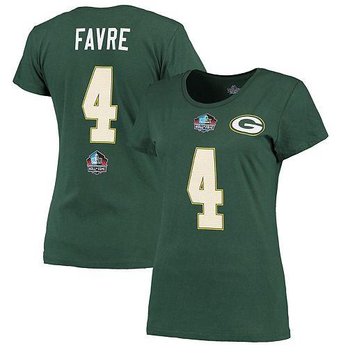 san francisco cddf3 e6ba4 Women's Majestic Brett Favre Green Green Bay Packers Hall ...