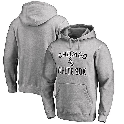 Men's Heathered Gray Chicago White Sox Victory Arch Pullover Hoodie