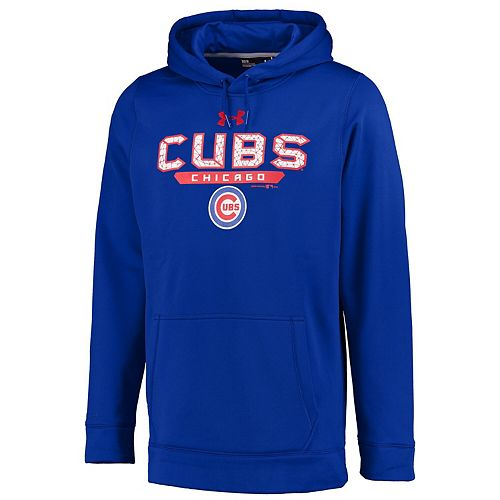 Men's Under Armour Royal Chicago Cubs Pullover Hoodie