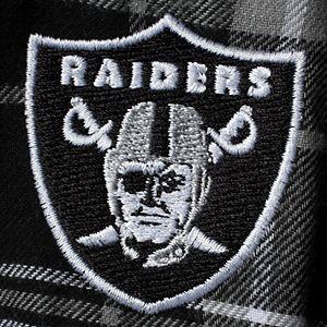 Men's Concepts Sport Black Oakland Raiders Ultimate Plaid Flannel Pajama Pants