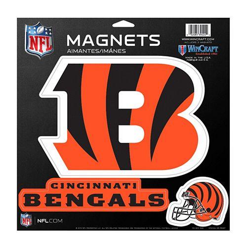 Cincinnati Bengals 11'' x 11'' Vinyl 3-Pack Magnet