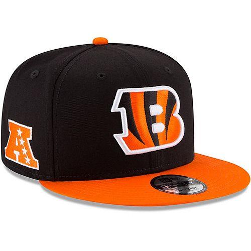 Youth New Era Black/Orange Cincinnati Bengals Baycik 9FIFTY Snapback Adjustable Hat