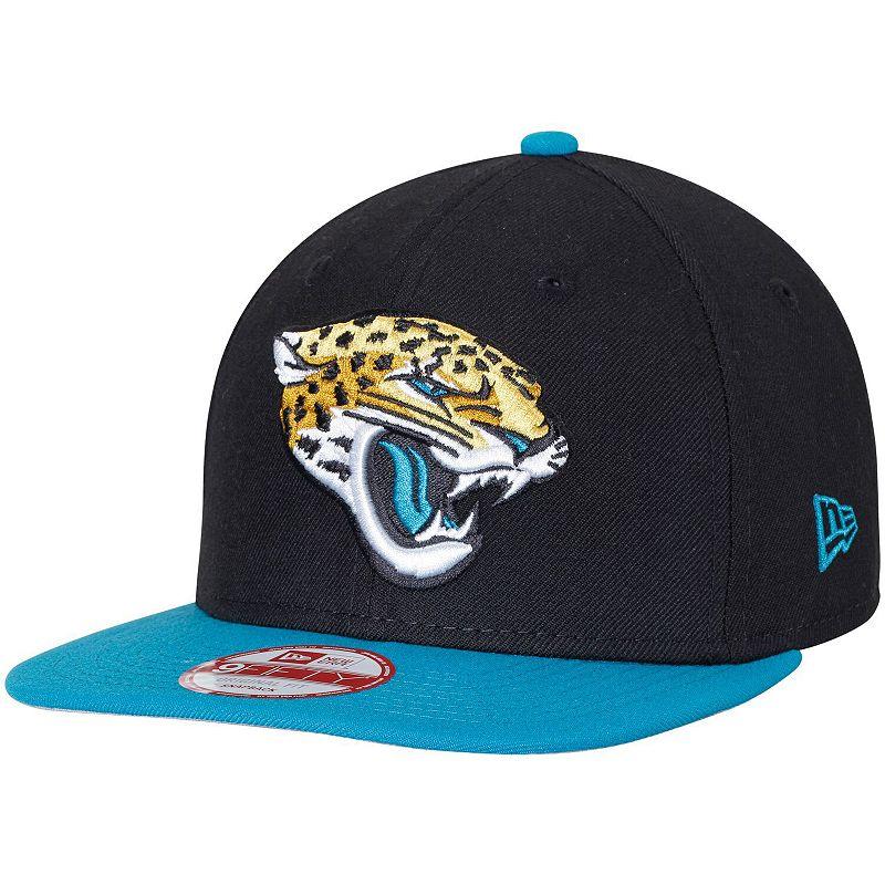 Men's New Era Jacksonville Jaguars Black Southside Snap Original Fit 9FIFTY Adjustable Snapback Hat