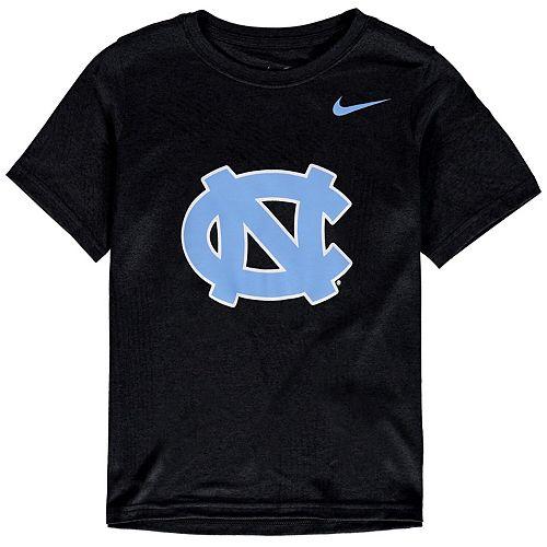 Youth Nike Black North Carolina Tar Heels Cotton Logo T-Shirt
